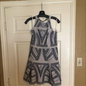 Patterned halter dress